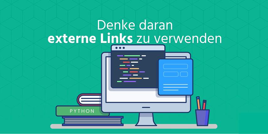 Externe Links verwenden: Verwende Links z.B. zu Wikipedia oder anderen vertrauenswürdigen Webseiten in deinem Text.