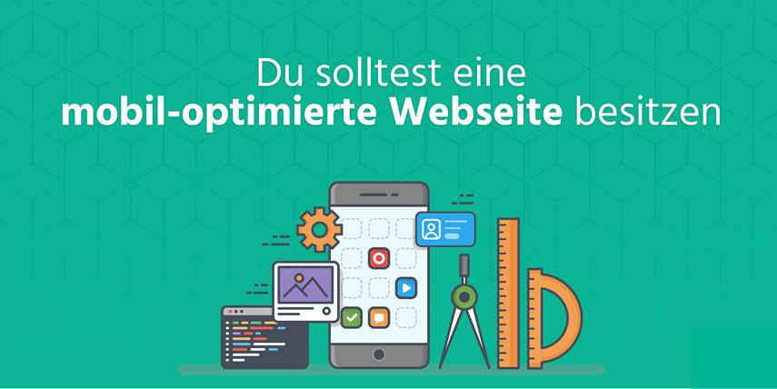 Eine Webseite im Responsive Design: Eine Mehrheit der Leser verwendet ein Smartphone: Deine Seite sollte nicht nur auf dem Rechner im Büro gut aussehen.